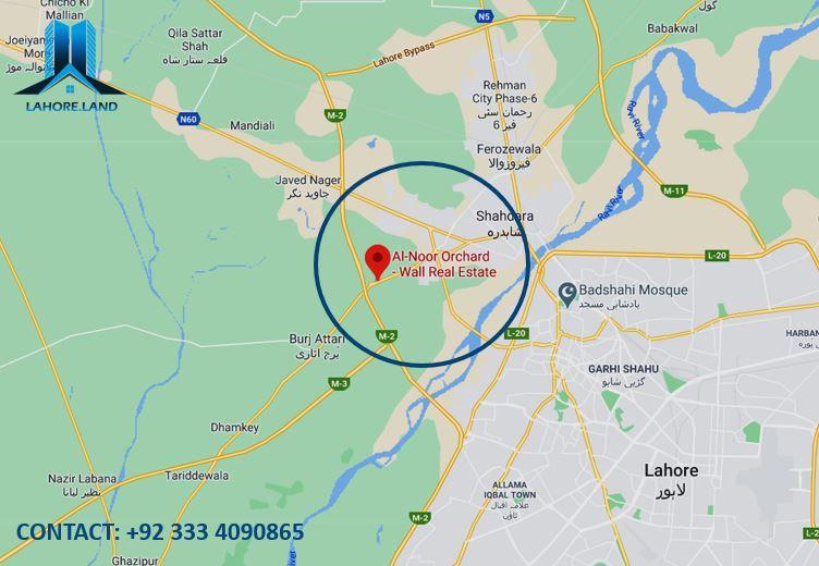 Al Noor Orchard Location Plan